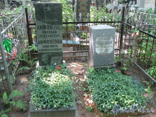 Красненькое кладбище. Захоронение семьи Лифонтовых. Фото 6 августа 2015 г.
