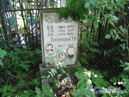 Красненькое кладбище. Захоронение семьи Суворовых и Т.В. Тороповой. Фото 6 августа 2015 г.