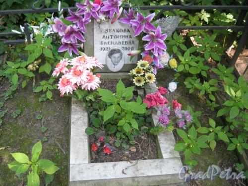 Красненькое кладбище. Захоронение А.В. Белковой. Фото 6 августа 2015 г.