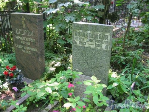 Красненькое кладбище. Захоронение М.Ф. и С.А. Минько, И.Д. Афанасьевой. Фото 6 августа 2015 г.