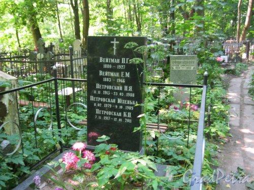 Красненькое кладбище. Захоронение семьи Вейтман-Петровских. Фото 6 августа 2015 г.