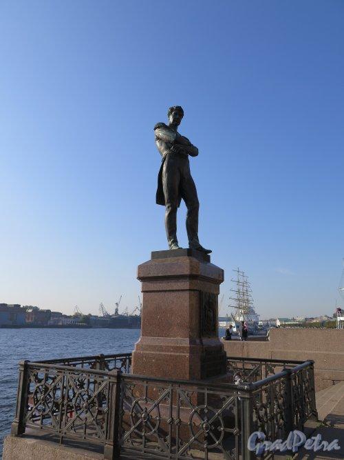 Памятник И. Ф. Крузенштерну Общий вид. Фото сенябрь 2014 г.