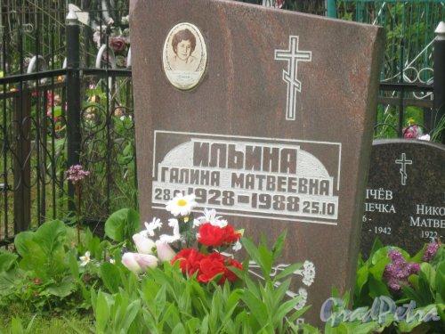 Лен. обл., Гатчинский р-н, пос. Сусанино, Вокзальная сторона. Захоронение Г.М. Ильиной (1928-1988). Фото 3 июня 2015 г.