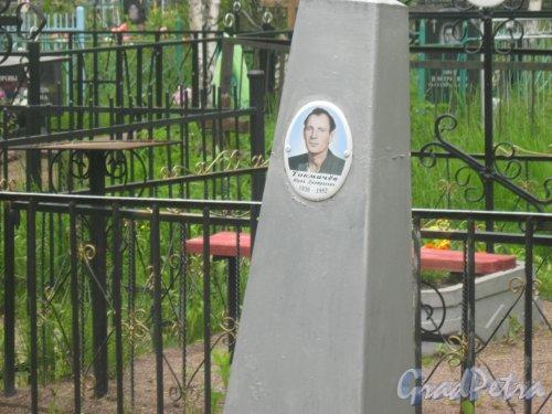 Лен. обл., Гатчинский р-н, пос. Сусанино, Вокзальная сторона. Захоронение Ю.Д. Токмачёва (1930-1982). Фото 3 июня 2015 г.