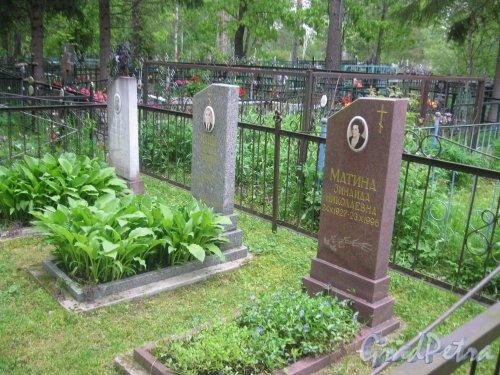 Лен. обл., Гатчинский р-н, пос. Сусанино, Вокзальная сторона. Захоронение семьи Матиных. Фото 3 июня 2015 г.