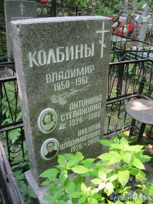 Красненькое кладбище. Захоронение семьи Колбиных. Фото 6 августа 2015 г.