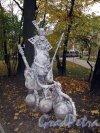 Измайловский сад. Адрес: наб. реки Фонтанки, д. 114. Скульптурная композиция. Фото октябрь 2011 г.