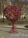 «Дерево любви» в виде сердца в Опочининском саду. Фото 11 апреля 2014 года.