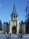 Шуваловский парк, д. 41, лит. А. Церковь св. Апостолов Петра и Павла. Западный фасад. Фото апрель 2012 г.