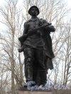 Московский Парк Победы. Памятник Александру Матросову. Фото апрель 2014 г.