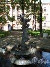Введенский сад. Фонтан в створе здания Военно-Медицинского музея. Фото май 2014 г.
