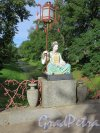 Александровский парк (Пушкин), БВ. Большой Китайский мост. Статуя китаянки, 1860, ск. Шварц П.И., арх. Монигетти И.А. фото август 2016 г.