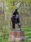 Екатерининский парк (Пушкин). Гранитная терраса («Терраса Руска»), 1809, Скульптура «Римский оратор». фото июнь 2017 г.