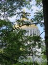 Овражный парк (Кронштадт). Вид Никольского Собора из парка. фото июнь 2017 г.