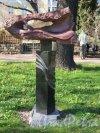 Ботанический сад. Скульптура «Северный ветер Борей» Автор: Е. Духовный. фото май 2018 г.