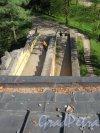 Екатерининский парк (Пушкин). «Башня-руина», Вид подъемного пандуса с обзорной площадки. фото май 2018 г.