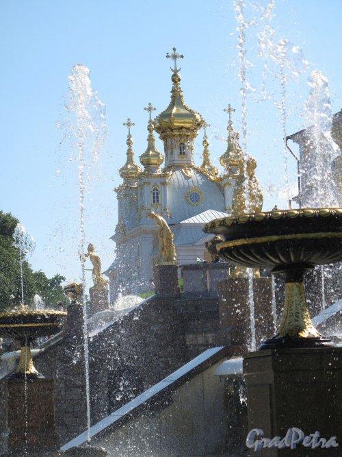 Нижний парк (Петергоф). Большой Каскад. Часть каскада. Фото август 2011 г.