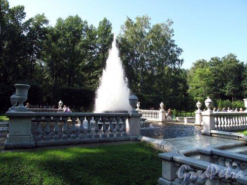 """Нижний парк (Петергоф). Фонтан """"Пирамида"""". Фото август 2011 г."""