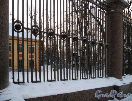 Летний сад. Невская решетка зимой. Фото январь 2011 г.