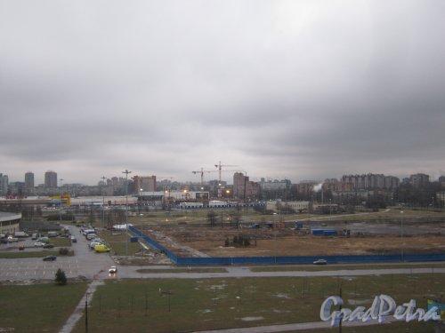 пр. Юрия Гагарина, дом 8. Строительная площадка легкоатлетического комплекса. Фото февраль 2014 г.