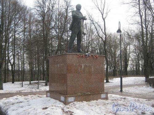 г. Красное Село, парк Красное Село. Памятник В.И. Ленину. Фото 24 февраля 2014 г.