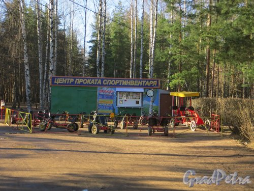 Центр проката спортивного инвентаря в парке Сосновка. Фото 26 марта 2014 года.