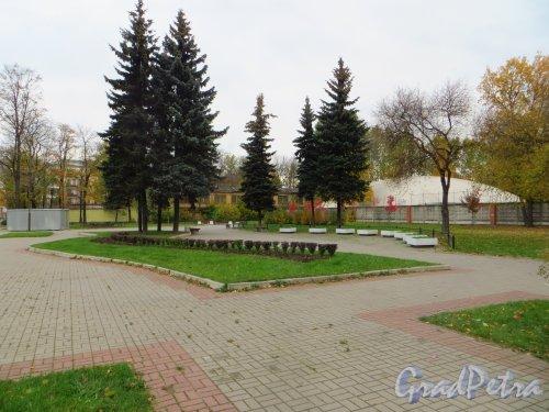 Сквер без названия на пересечении улицы Капитана Воронина и Большого Сампсониевского проспекта. Фото 11 октября 2014 года.