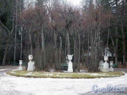 г. Павловск, Павловский парк. Беседка Росси. Фото 5 марта 2014 г.