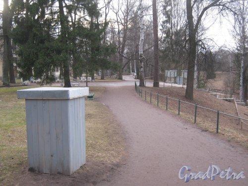 г. Павловск, Павловский парк. Вид на Вильгельмову площадку. Фото 5 марта 2014 г.