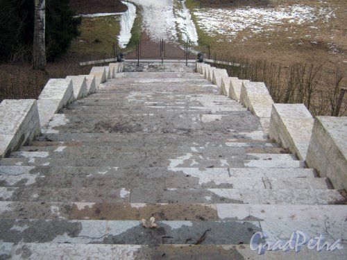 г. Павловск, Павловский парк. Большая каменная лестница. Фото 5 марта 2014 г.