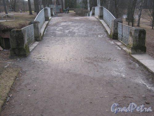 г. Павловск, Павловский парк. Мост через овраг (у дворца). Фото 5 марта 2014 г.
