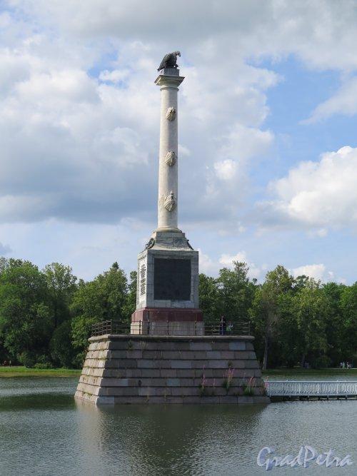 Екатерининский парк.  Чесменская колонна, 1771-78, арх. А. Ринальди.  фото июль 2015 г.