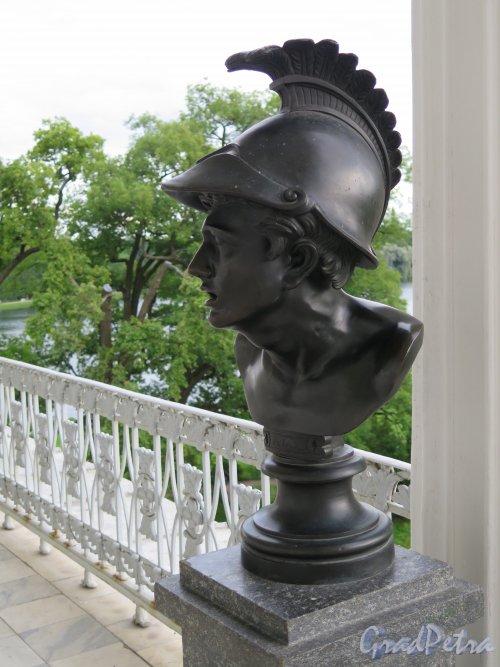 Екатерининский парк (Пушкин). Камеронова галерея. Античный воин. фото июль 2015 г.