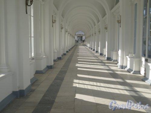 Екатерининский парк (Пушкин). Камеронова галерея. Вид интерьера. фото сентябрь 2015 г.