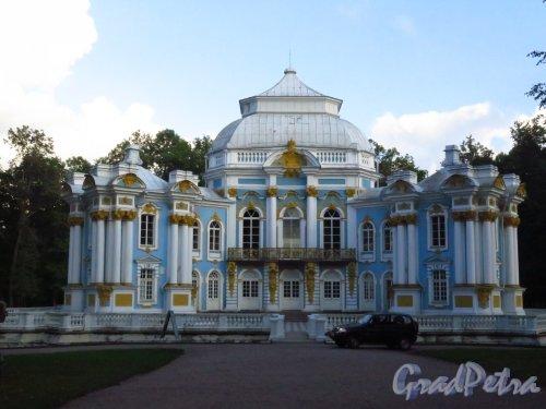 Екатерининский парк. Павильон «Эрмитаж». Общий вид Парадного фасада. Фото май 2014 г.