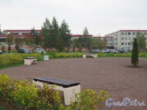 Парк Авиаторов в пос. Агалатово (Всеволожский район). Центральная площадка. фото сентябрь 2015 г.
