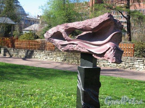 Ботанический сад. Декоративная скульптура «Северный ветер Борей», ск. Е. Духовный. фото май 2016 г.