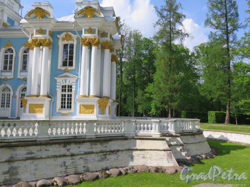 Екатерининский парк (Пушкин). Павильон «Эрмитаж». Вид одного из крыльев. фото май 2016 г.