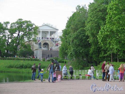 Екатерининский парк (Пушкин). Камеронова Галерея. Вид с пристани у Павильона Грот. фото май 2016 г.