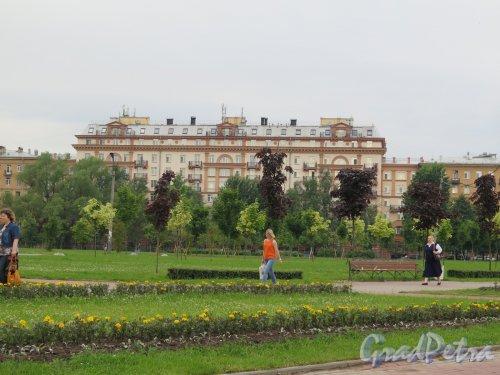 Ломоносовский сад. Общий вид сада. фото июнь 2016 г.