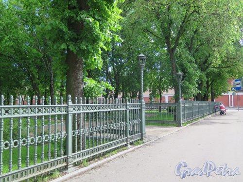 Сквер Металлистов. Часть ограды по ул. Аммермана. фото июнь 2017 г.