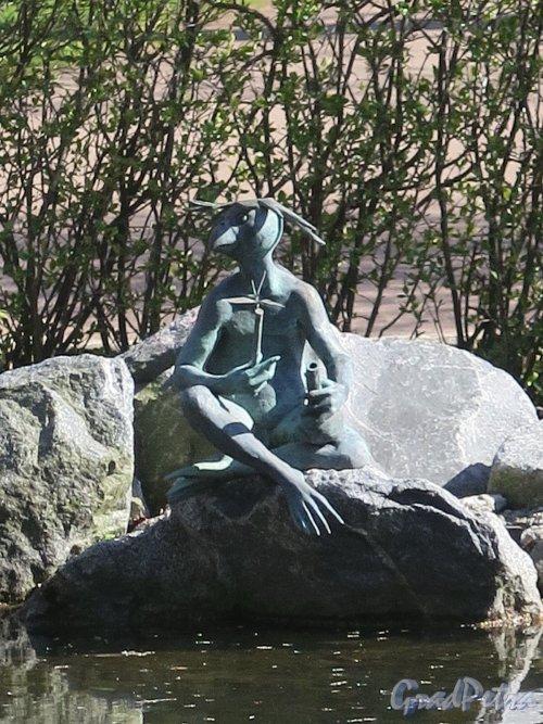 Ботанический сад. Участок Японский садик. Скульптура «Черепаха у Пруда». фото май 2018 г.