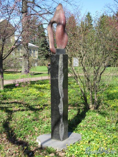 Ботанический сад. Скульптура «Волна теплого воздуха». Автор: Е. Духовный. фото май 2018 г.