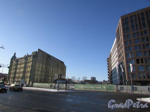 Сквер без названия № 17173 на Лиговском проспекте южнее дома 271. Фото 6 февраля 2020 года.