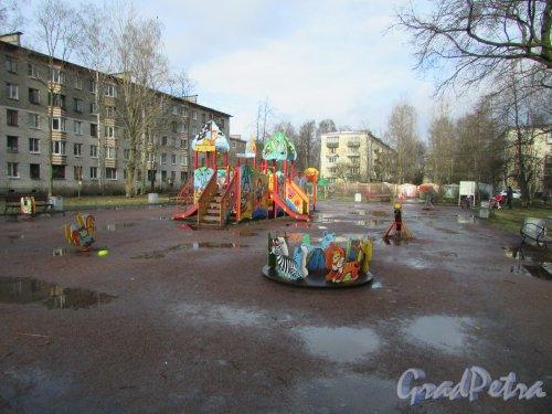Сквер без названия на Варшавской ул., д. 43, корп. 2 №  14-46-3, площадью 0,59 га. Фото 11 февраля 2020 г.