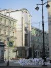 Тележный переулок, дом 2, литера А. Жилой дом (Apart hotel «Prestige»), 2005. Вид фасада встройки со стороны переулка. фото февраль 2018 г.