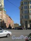 Заячий пер. Вид переулка с Суворовского проспекта. фото май 2018 г.