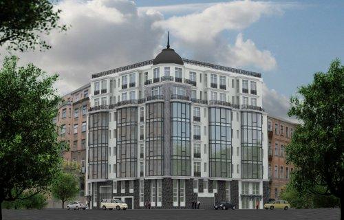Проект нового жилого дома на на пересечении Офицерского переулка и улицы Красного Курсанта (Офицерский переулок, юго-восточнее пересечения с улицей Красного курсанта).