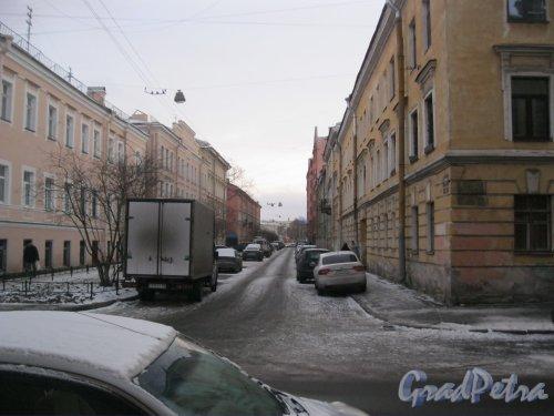 Климов переулок. перспектива от ул. Лабутина в сторону наб. р. Фонтанки. Фото 6 января 2015 г.