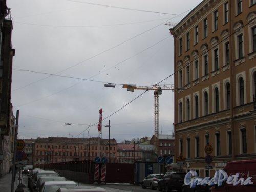 Басков переулок, дом 2. Начало строительстважК «Русский дом». Фото 29 января 2016 года.